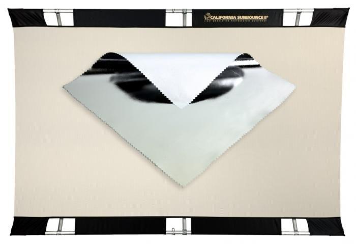 Sunbounce PRO Bespannung Silber - Rückseite Weiss (nahtlos)