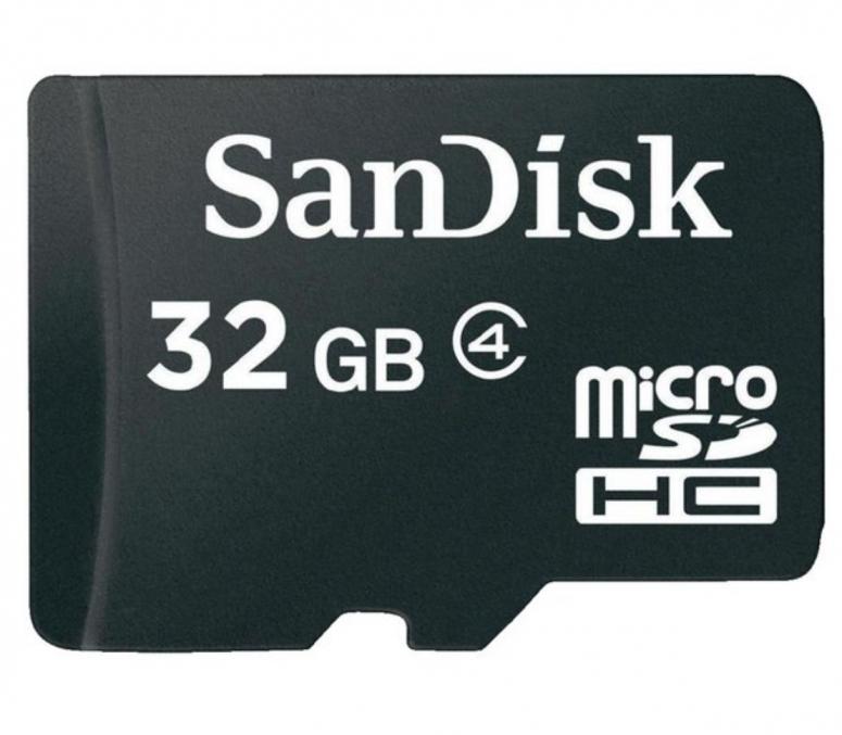 SanDisk MicroSDHC 32GB mit SD Adapter