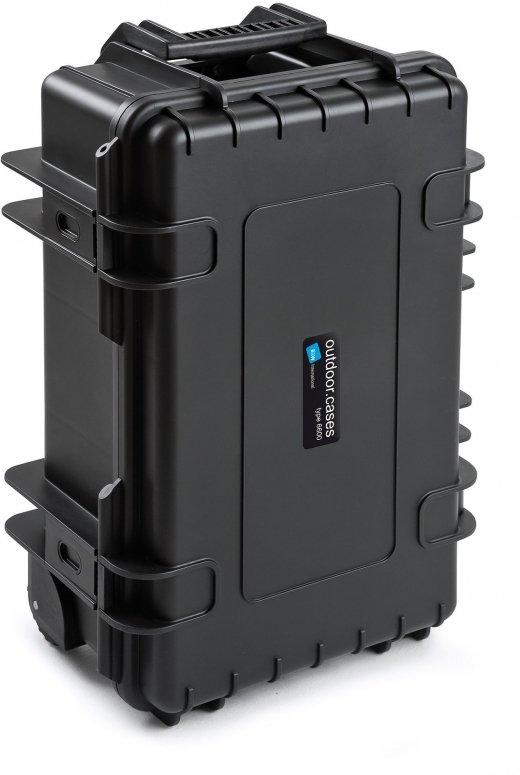 B&W Case Type 6600 RPD schwarz mit Facheinteilung