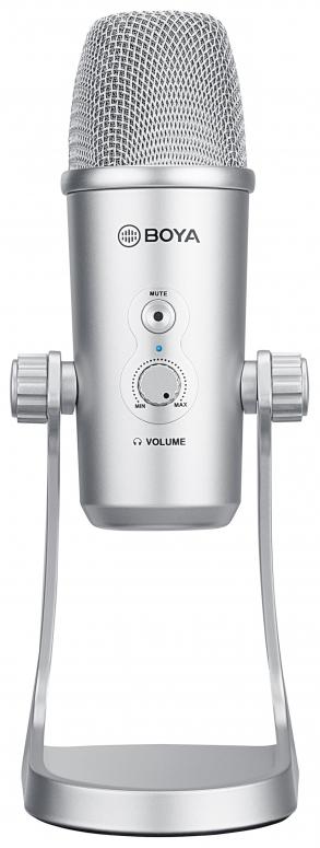 Boya BY-PM700SP USB-Membran-Kondensator Tischmikrofon silber