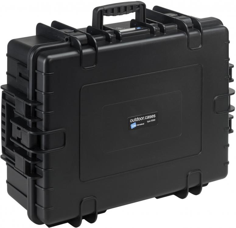 B&W Case Type 6500 RPD schwarz mit Facheinteilung