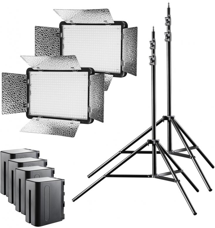 Walimex pro LED Versalight 500 Bi Color 2er Set