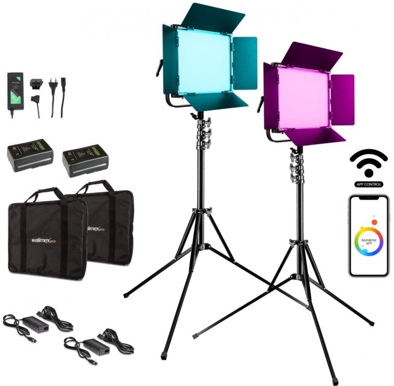 Walimex pro LED Rainbow 50W RGBWW Set 4