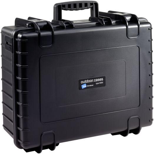 B&W Case Type 6000 RPD schwarz mit Facheinteilung