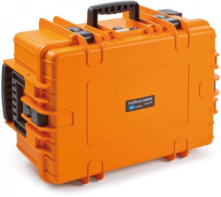 B&W Case Type 6700 RPD orange mit Facheinteilung