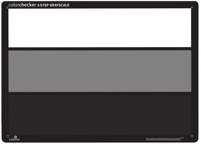 Calibrite ColorChecker 3-Step Grayscale