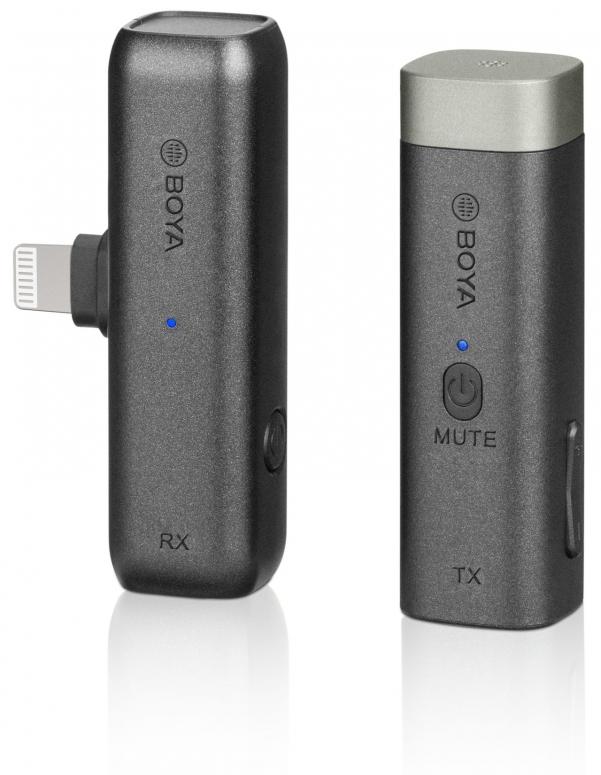 Boya BY-WM3D Ansteckmikrofon mit Lightning +3.5mm TRS & TRRS Adapter