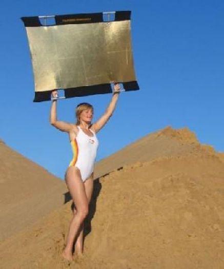 Sunbounce Mini Rahmen + Bespannung gold/silber