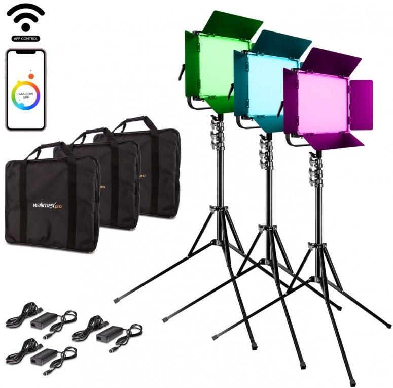 Walimex pro LED Rainbow 100W RGBWW Set 3