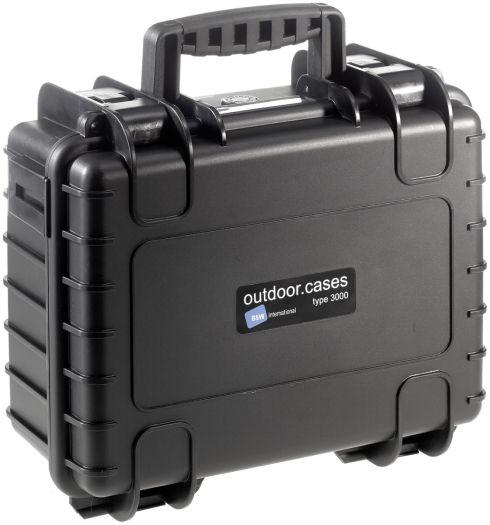 B&W Case Type 3000 SI schwarz mit Schaumstoffeinsatz