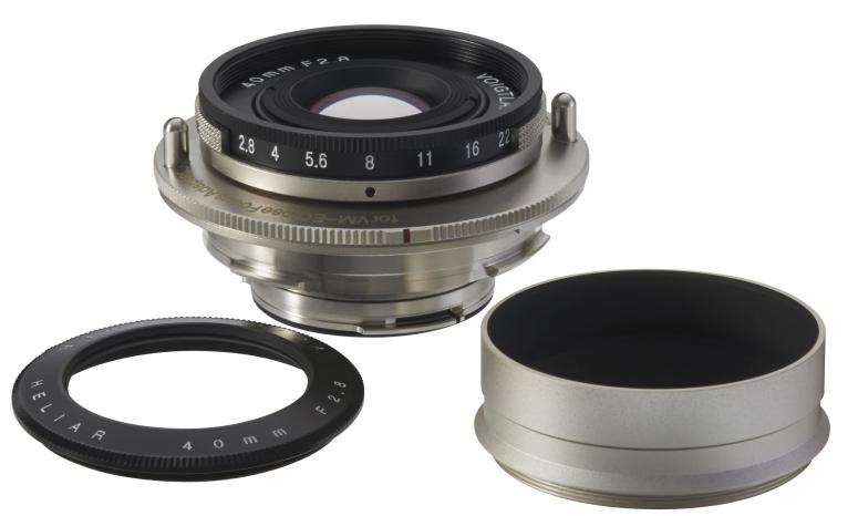 Voigtländer Heliar 40mm 1:2,8 für Adapter VM-E Nah+
