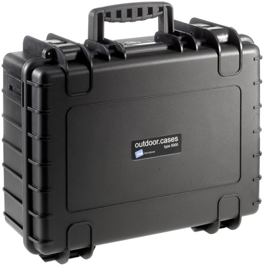 B&W Case Type 5000 SI schwarz mit Schaumstoffeinsatz
