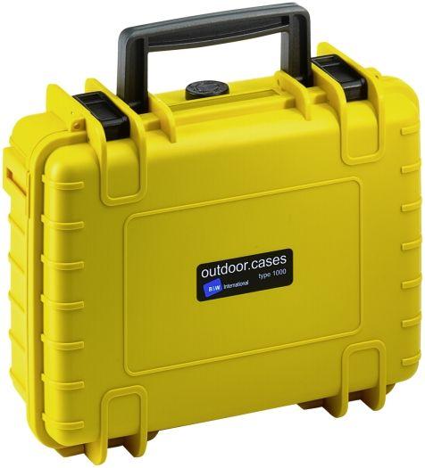 B&W Case Type 1000 SI gelb mit Schaumstoffeinsatz