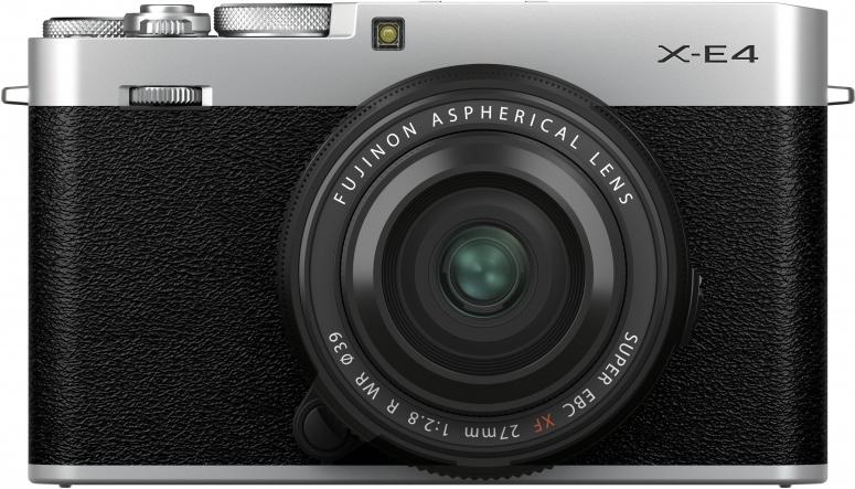 Fujifilm X-E4 silber + XF27mm f2,8 R WR