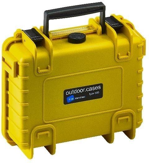 B&W Case Type 500 gelb mit Schaumstoffeinsatz