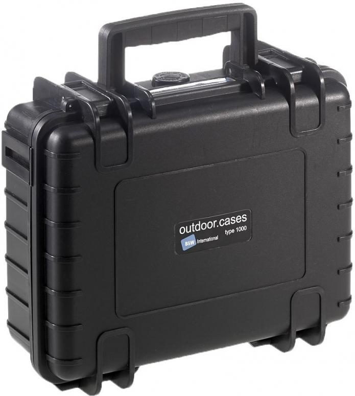 B&W Case Type 1000 SI schwarz mit Schaumstoffeinsatz