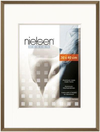 Nielsen Metallrahmen C2 Alurahmen 30x40 cm walnuss