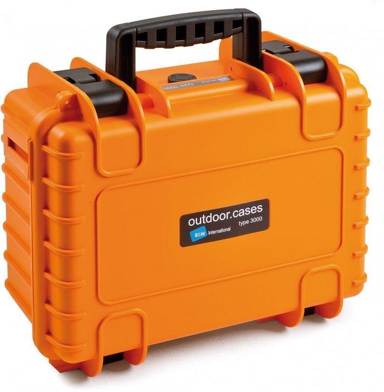 B&W Case Type 3000 RPD orange mit Facheinteilung