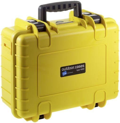 B&W Case Type 4000 SI gelb mit Schaumstoffeinsatz