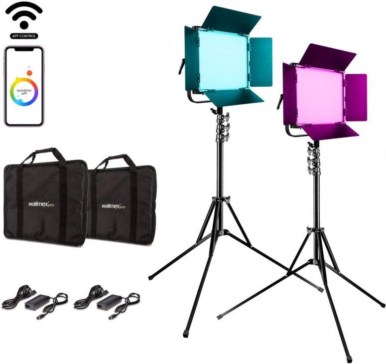 Walimex pro LED Rainbow 50W RGBWW Set 2