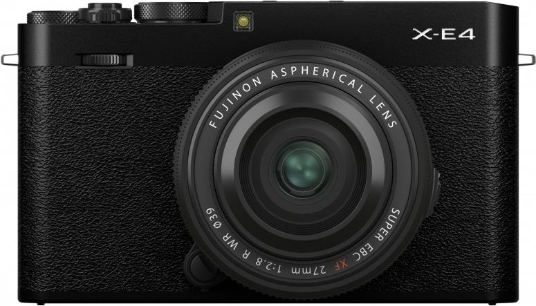Fujifilm X-E4 schwarz + XF27mm f2,8 R WR