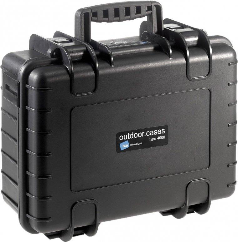 B&W Case Type 4000 RPD schwarz mit Facheinteilung