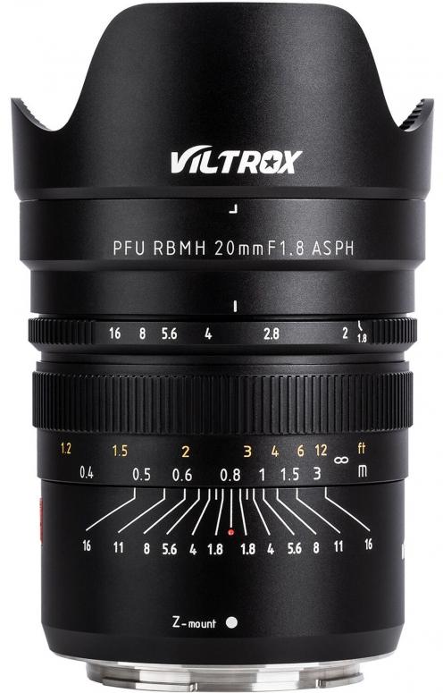 Viltrox Z 20mm f1,8 MF Nikon Z-Mount