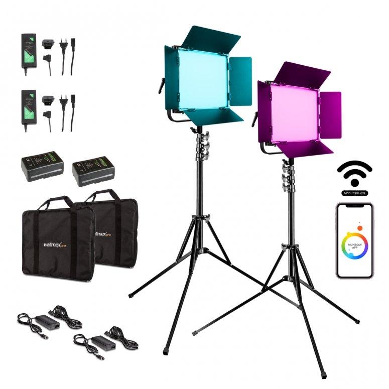 Walimex pro LED Rainbow 100W RGBWW Set 4