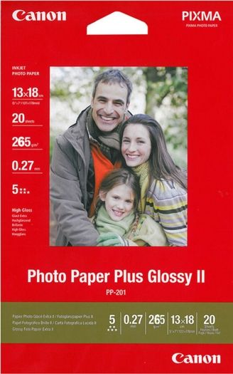 Canon Papier PP-201 Plus II 20 Blatt, 13x18 260g/m²