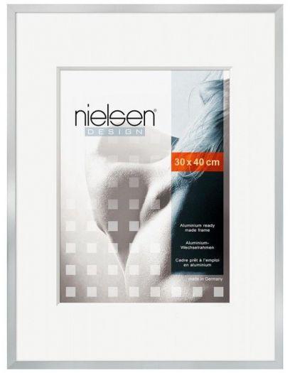 Nielsen 63064 Metallbilderrahmen C2 30x40 cm in silber matt