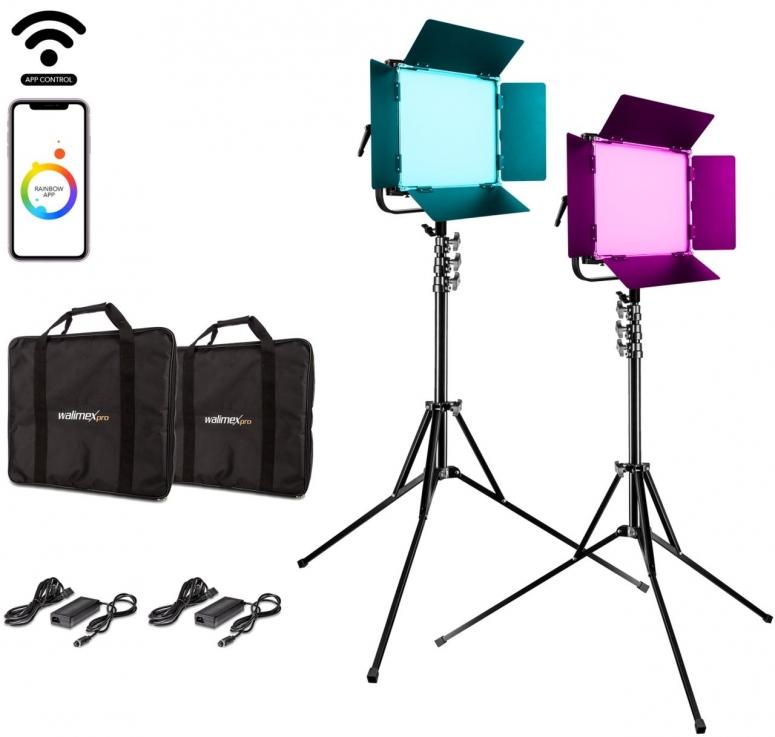 Walimex pro LED Rainbow 100W RGBWW Set 2