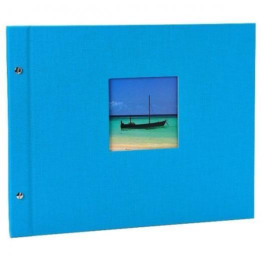 Goldbuch Schraubalbum Bella Vista Türkis 28 973 schwarze Seiten 39x31