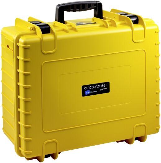 B&W Case Type 6000 SI gelb mit Schaumstoffeinsatz