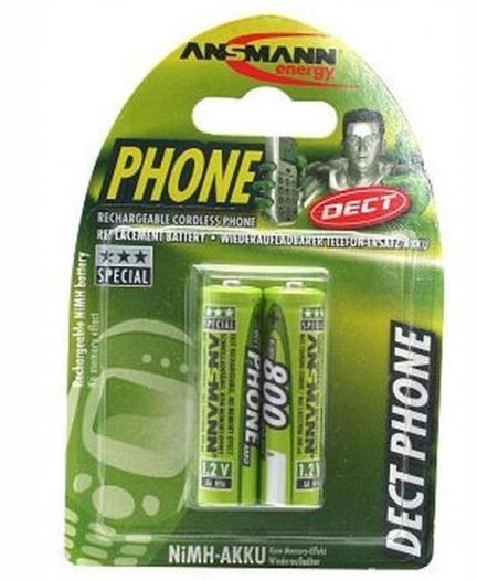 Ansmann Akku maxE Phone 800mAh Mignon AA 2er Blister