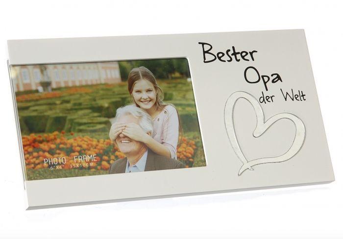 Bilderrahmen Für den besten Opa 10x15cm weiß