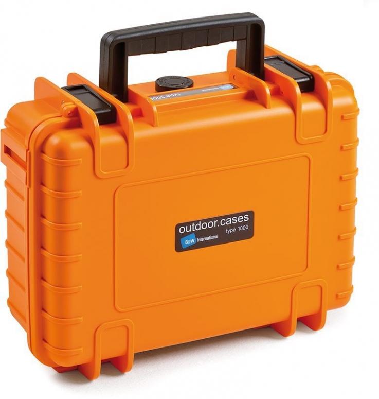 B&W Case Type 1000 SI orange mit Schaumstoffeinsatz