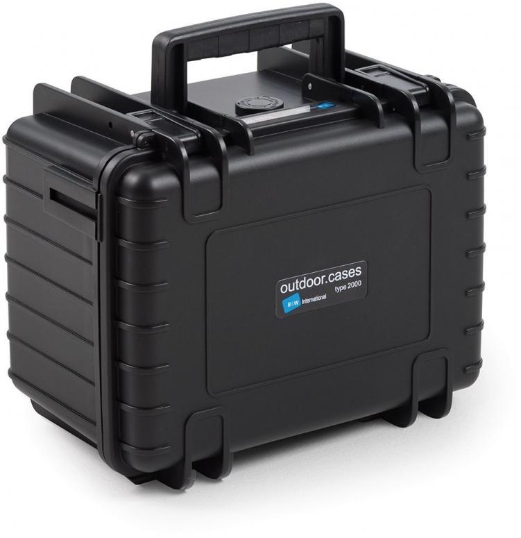 B&W Case Type 2000 RPD schwarz mit Facheinteilung