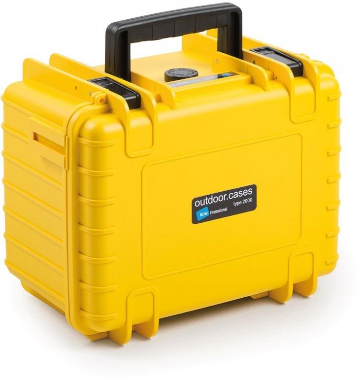 B&W Case Type 2000 SI gelb mit Schaumstoffeinsatz