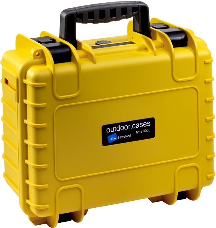 B&W Case Type 3000 SI gelb mit Schaumstoffeinsatz