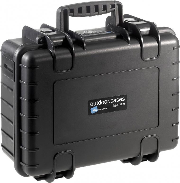 B&W Case Type 4000 SI schwarz mit Schaumstoffeinsatz