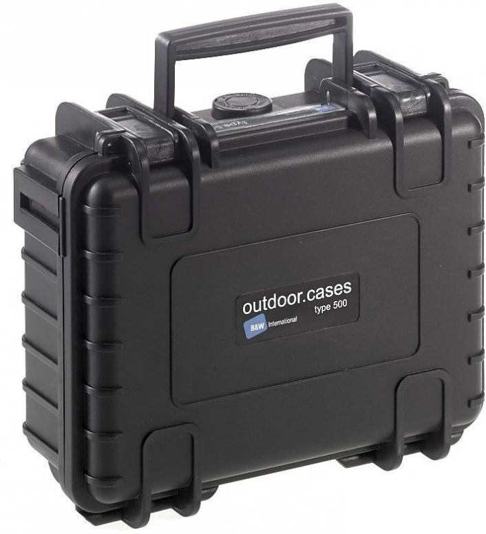 B&W Case Type 500 schwarz mit Schaumstoffeinsatz