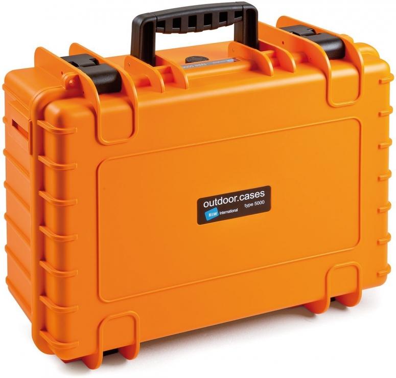 B&W Case Type 5000 RPD orange mit Facheinteilung