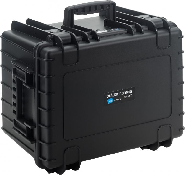 B&W Case Type 5500 SI schwarz mit Schaumstoffeinsatz