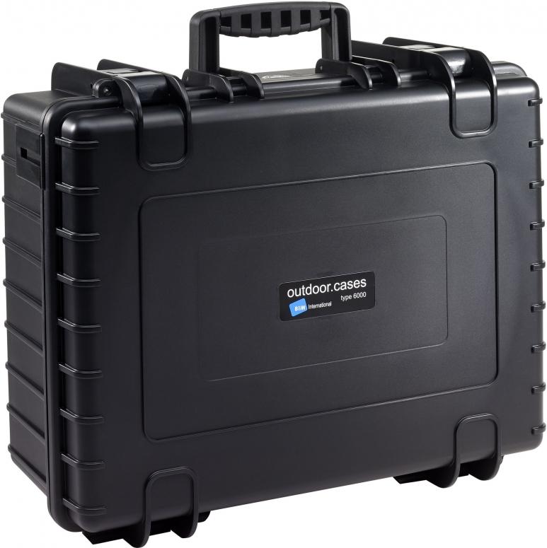B&W Case Type 6000 SI schwarz mit Schaumstoffeinsatz