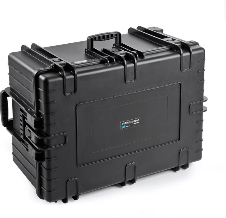 B&W Case Type 7800 SI schwarz mit Schaumstoffeinsatz