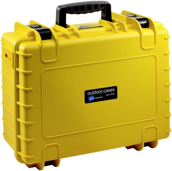 B&W Case Type 5000 RPD gelb mit Facheinteilung