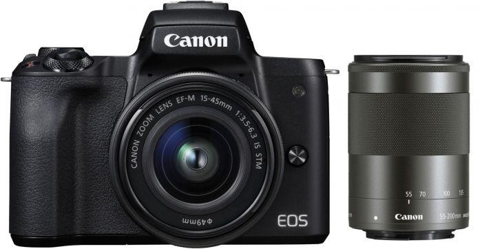 Canon eos m50 schwarz ef m 15 45 f3 5 6 3 55 200mm f4 5 6 3 is