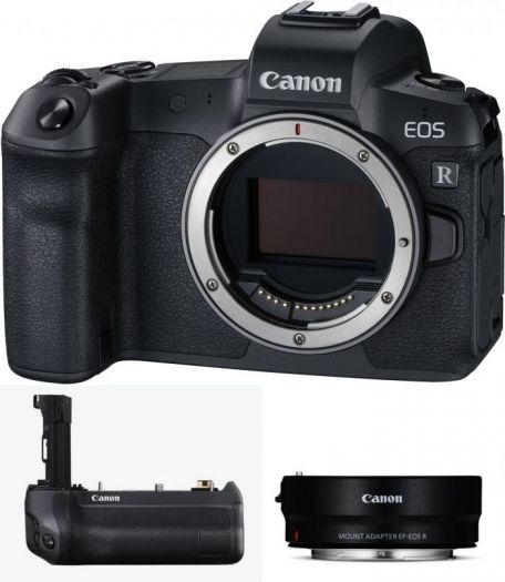 Canon EOS R Body + Adapter EF-EOS R + Batteriegriff BG-E22