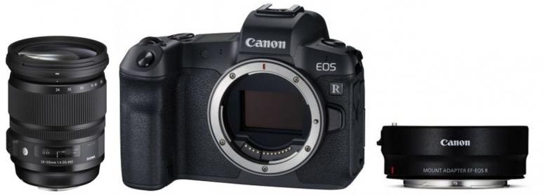 Canon EOS R Gehäuse + EF Adapter + Sigma 24-105mm F4 DG OS HSM