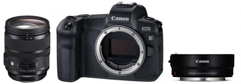 Canon EOS R Gehäuse + EF Adapter + Sigma 24-70mm f2,8 DG OS HSM (Art)